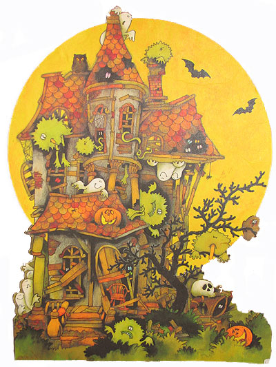 Haunted house full of goblins, ghosts and other ghouls
