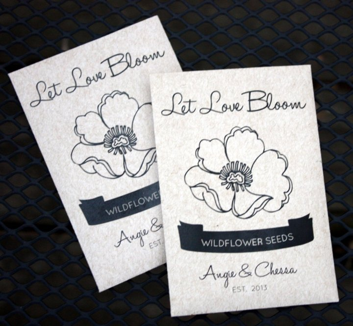 two wildflower seed packets